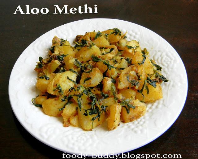 Aloo Methi (Potato with Fenugreek Leaves)- How to make ...