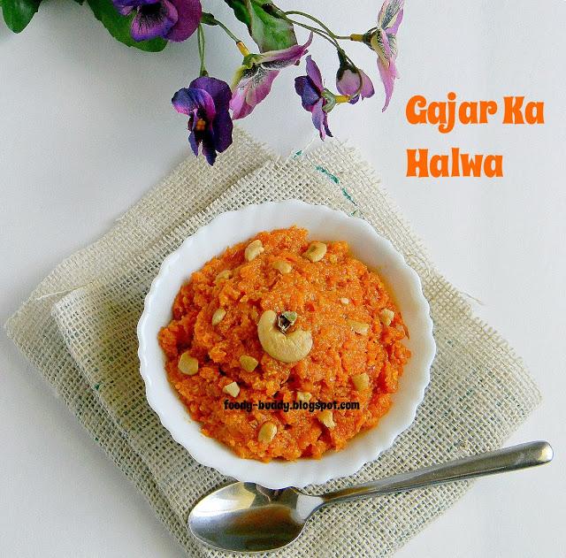 Carrot Halwa / Gajar Ka Halwa - Microwave Method / Easy Diwali Sweets ...