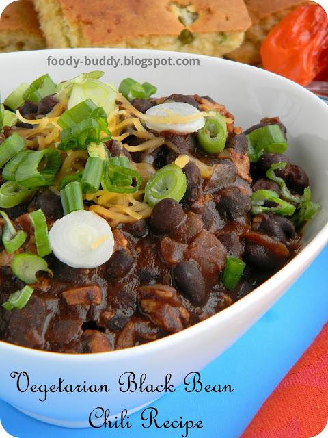 Vegetarian Black Bean Chili Recipe | Easy Bean Chili Recipe ...