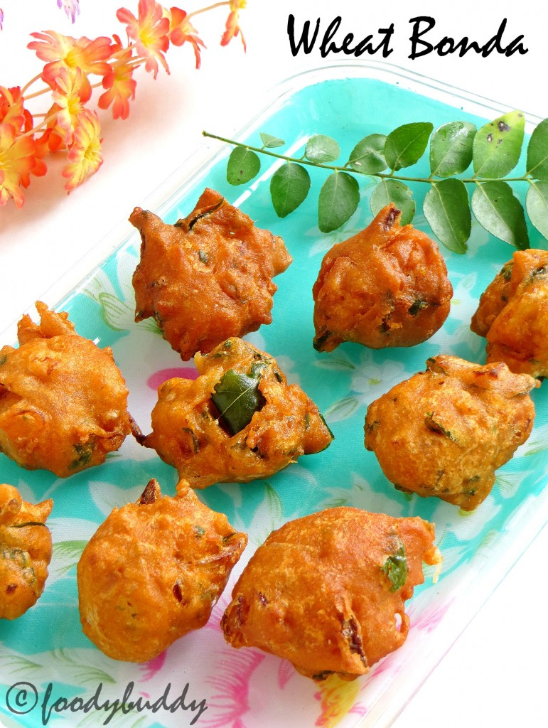 5 mins Instant Wheat bonda recipe