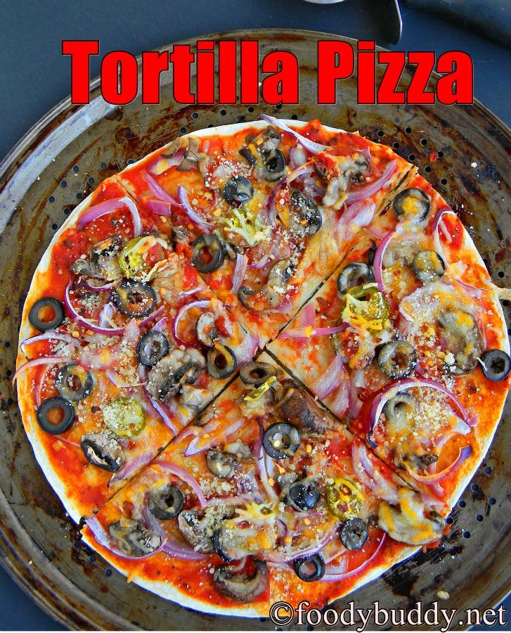 easy tortilla pizza recipe