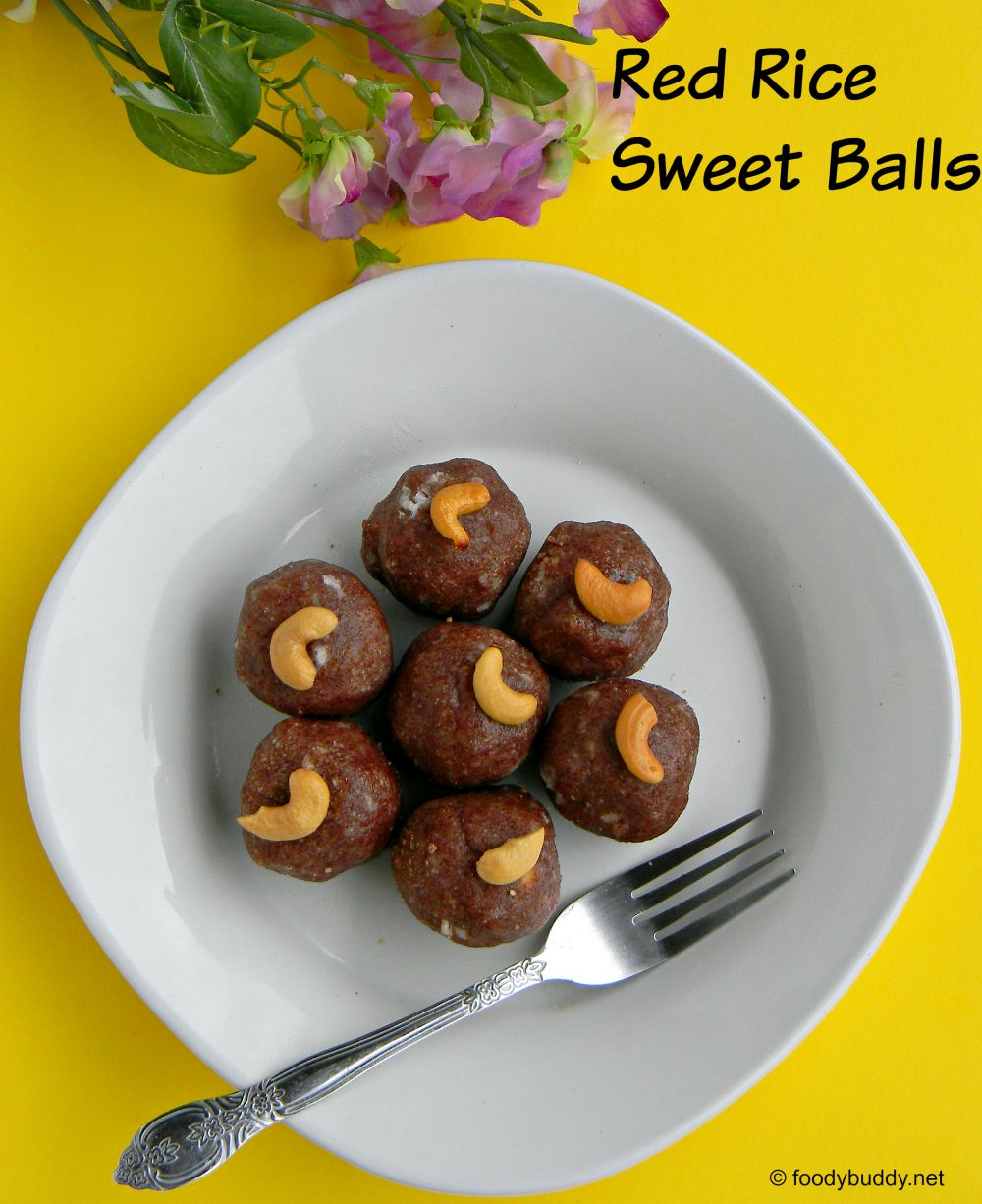 red rice sweet balls