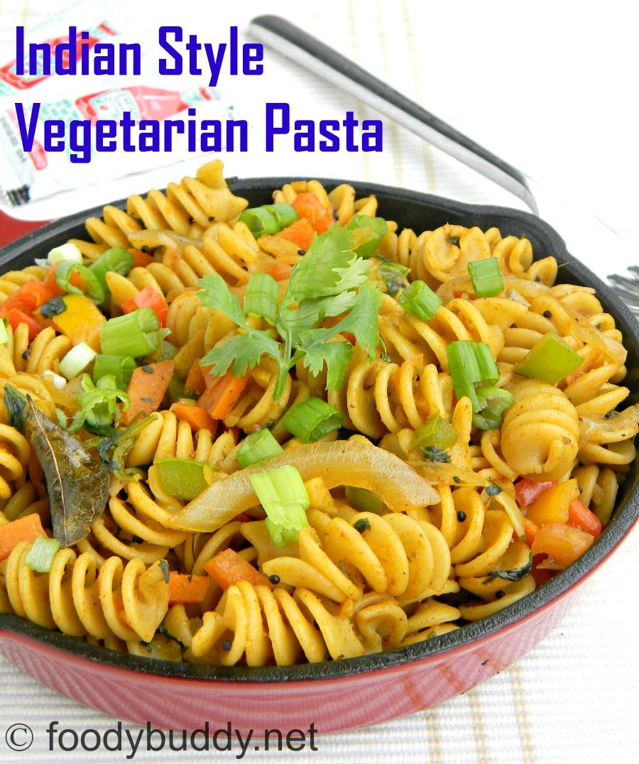 indian style vegetarian pasta recipe