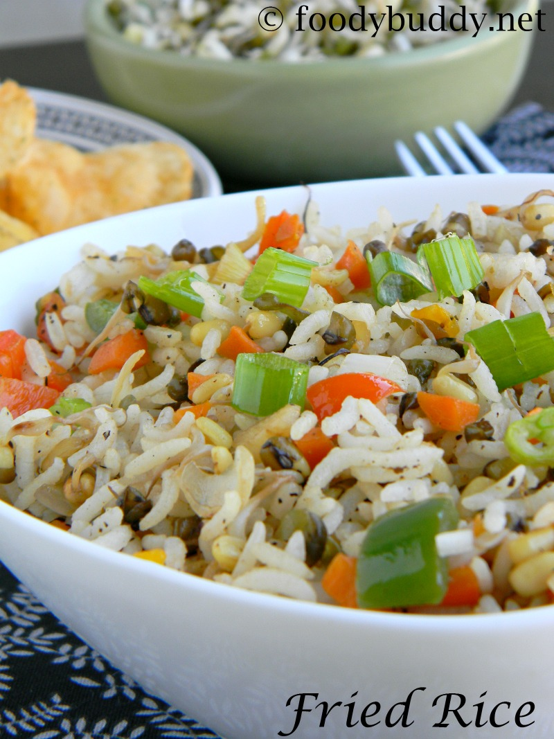 sprouts veg fried rice recipe