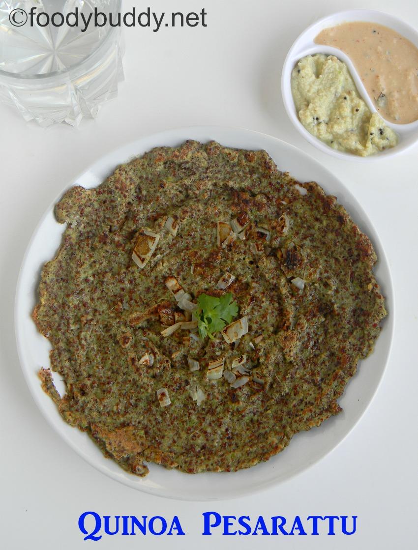 quinoa pesarattu recipe