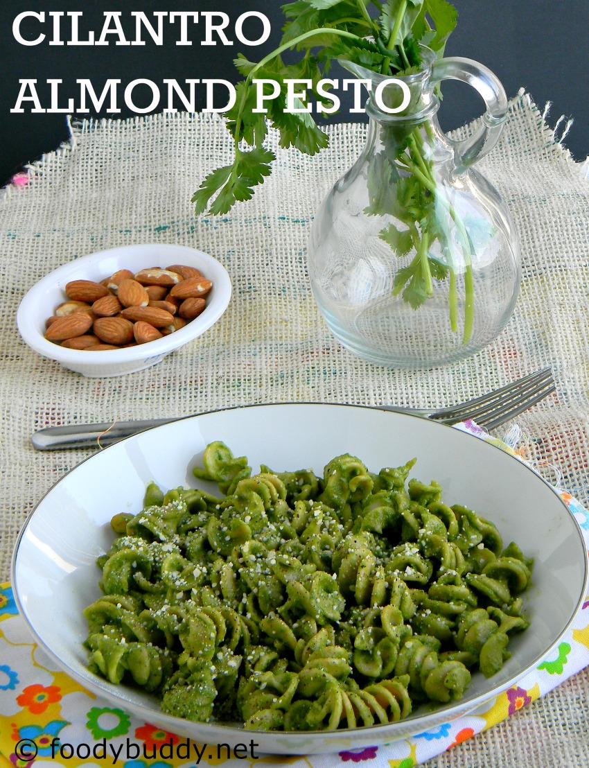 ... are using unroasted almonds, roast it in a pan before you make pesto