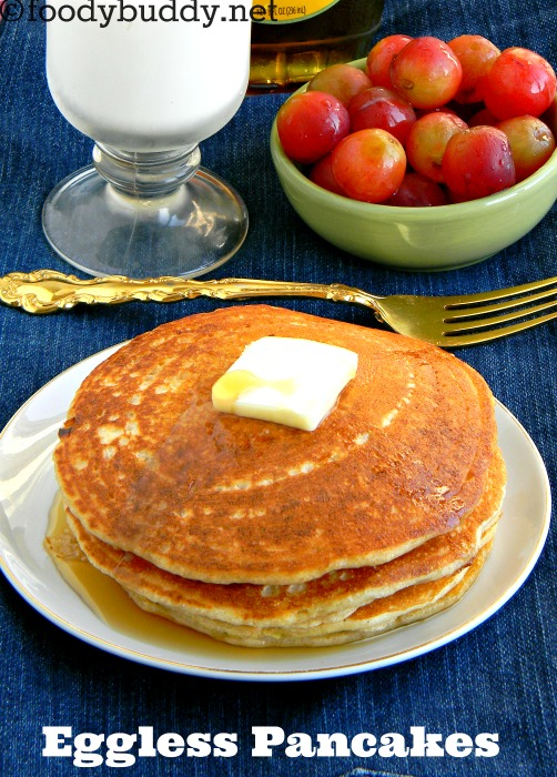Eggless pancake recipe | How to make eggless pancakes with wheat flour
