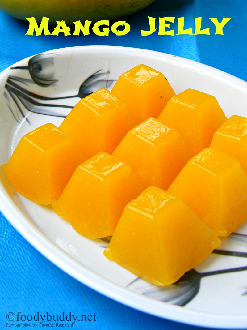 Easy mango jelly recipe using agar agar foodybuddy for Agar agar cuisine